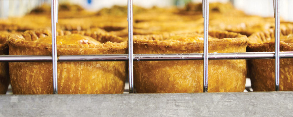 John Crawshaw's freshly cooked pies