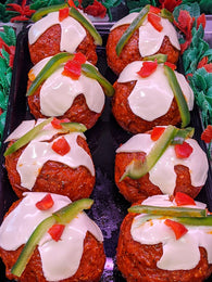 Christmas Pudding Beef Baubles!