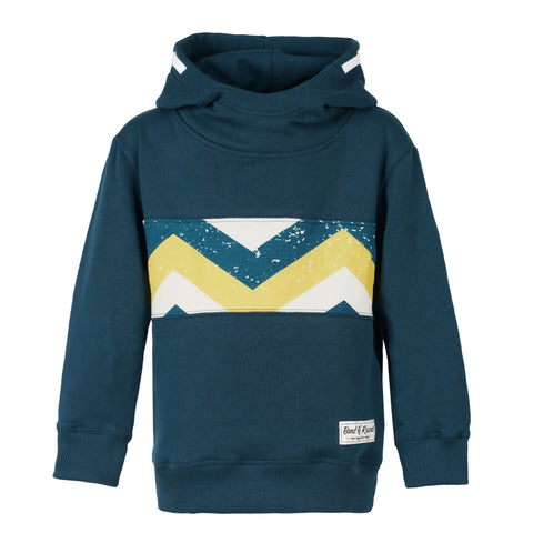 Striped  Zip Hooded