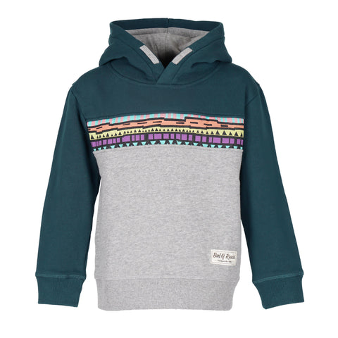 Multi Color Striped Zip Hooded