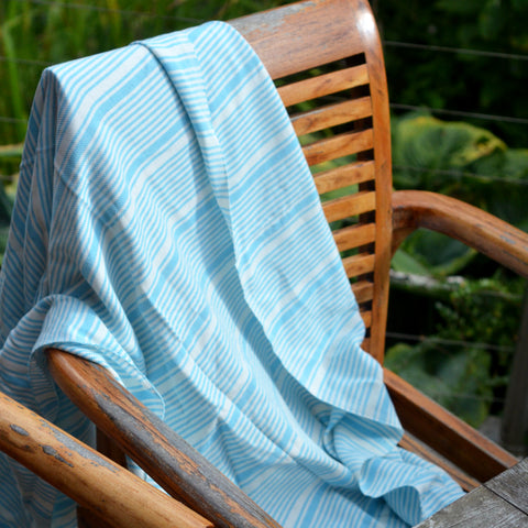 Hammam Throw/Towel - Blue Stripe