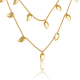 gold leaf multi layer necklace