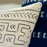 Abstract Lumbar Mudcloth Pillow