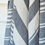 black and white hammam towel