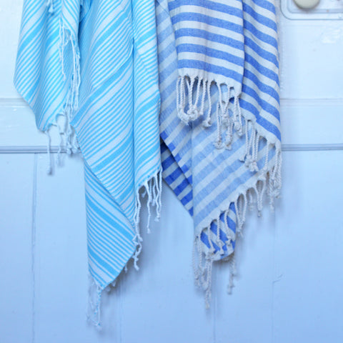 Super-soft Hammam Throw/Towel - Seaside Stripe