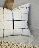Shibori 'Lattice' Cushion Cover