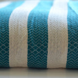 Super-soft Hammam Throw/Towel - Teal Stripe