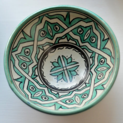 Fez Turquoise Patterned Bowl