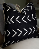 Black Arrow Mudcloth Pillow