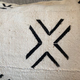 detail white cross mudcloth