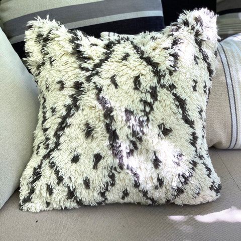 berber wool cushion