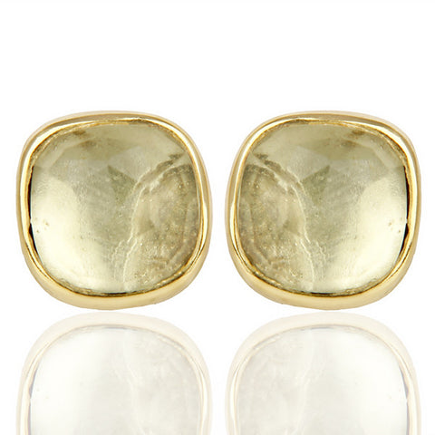 Lemon Topaz 14ct Gold Earrings