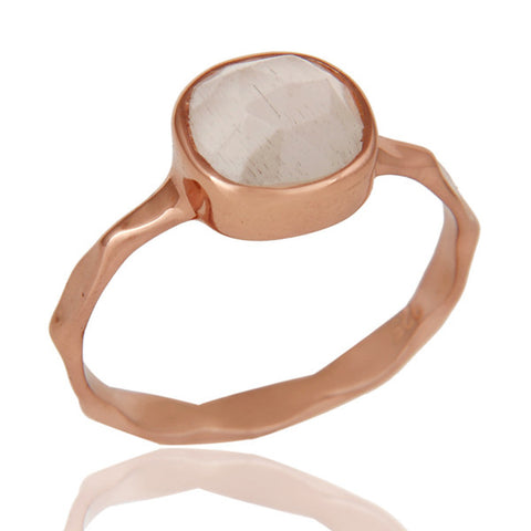 Rose Gold Moonstone Ring