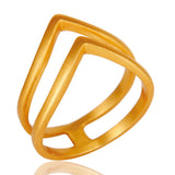 Chevron 14ct Gold Ring