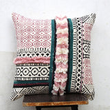 hand block printed cushion