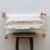 fringed tassel pillow