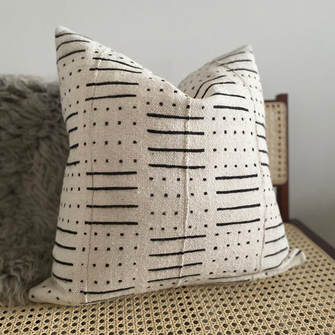 Line & Dot Mudcloth Pillow