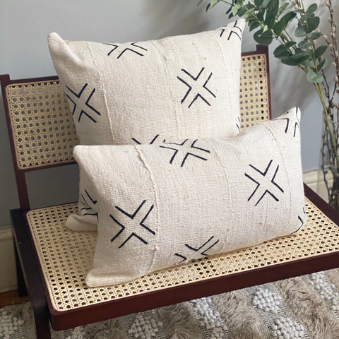 Simple Cross Mudcloth Pillow