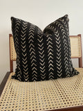 Black Small Arrow Mudcloth Pillow