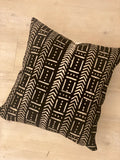 Black Wosoko Mudcloth Pillow