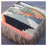 boho fringed floor cushion