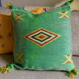 Green Sabra Silk Cushion Cover