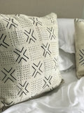 Crosses White Mudcloth Pillow