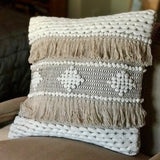 Arcadia Fringed Pillow Cover