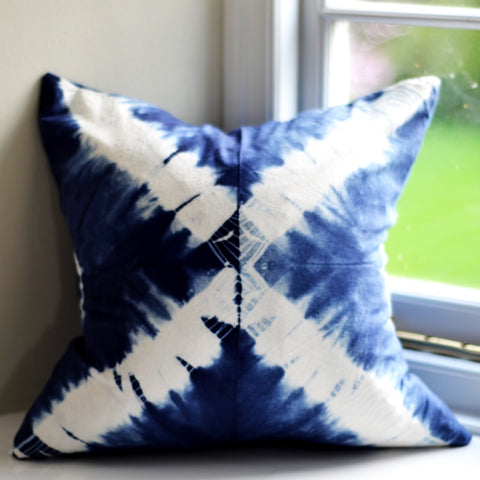 Shibori 'Arc' Cushion Cover
