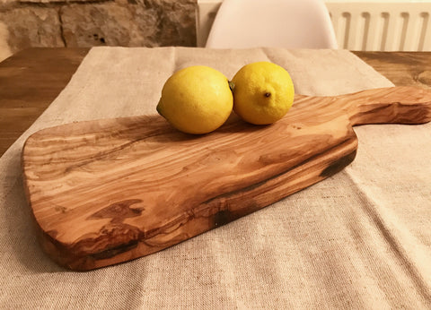 Olive Wood Paddle Server