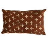 Rust Crosses Mudcloth Pillow