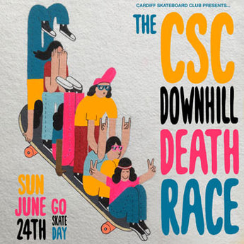 Go Skate Day - Downhill Death Race (With Waiver Form)