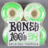 Bones '100's' 54mm Wheels - CSC Store