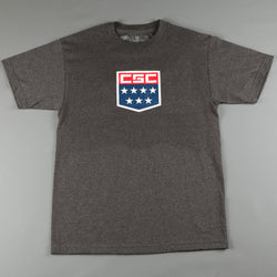 CSC 'MNCSC Shield' T-Shirt (Charcoal Heather)