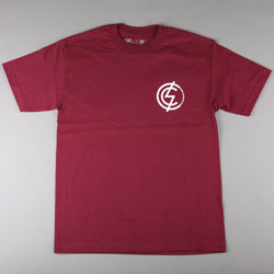 CSC 'Mod Chest' T-Shirt (Burgundy / White) - CSC Store