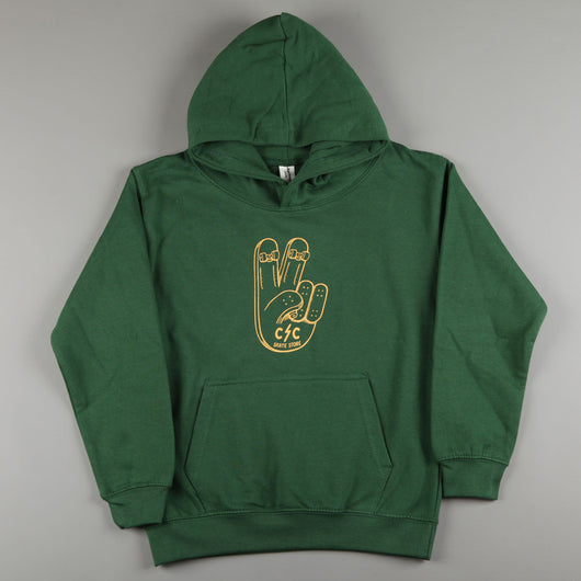 CSC 'Peace' Kids Hood (Bottle Green)