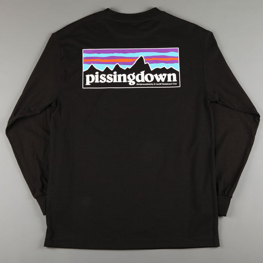 CSC 'Pissingdown' Longsleeve T-Shirt (Black)