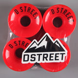 D-Street '59 Cent' 59mm 78a Wheels (Red)