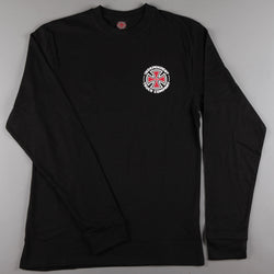 Independent 'Repeat Cross' Longsleeve T-Shirt (Black) - CSC Store
