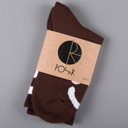 Polar 'Happy Sad' Socks (Brown)