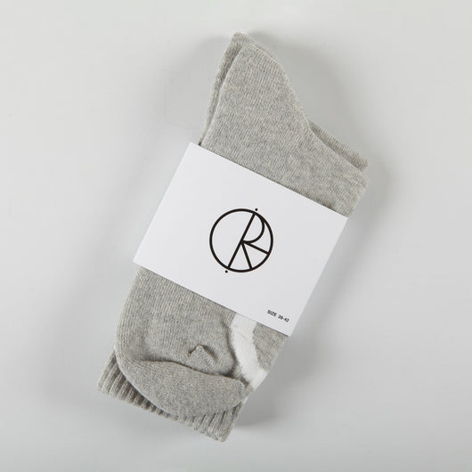Polar 'Happy Sad' Socks (Heather Grey)