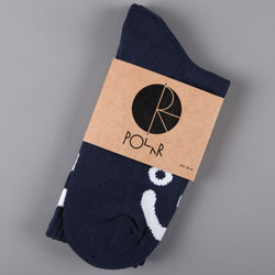Polar 'Happy Sad' Socks (Navy)