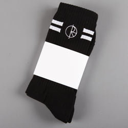 Polar 'Stroke Logo' Socks (Black / White)