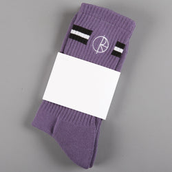 Polar 'Stroke Logo' Socks (Purple)