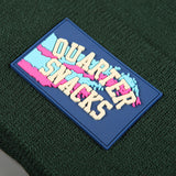 Quartersnacks 'Rubber Label' Beanie (Forest Green)