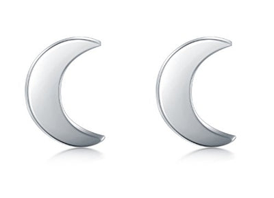 """Khalida"" - Crescent Moon Stud Earrings - OMGoth - My Gothic Shop"