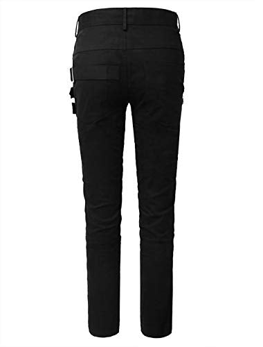 """Llanzo"" - Buckle & Zipper Slim Fit Pants"