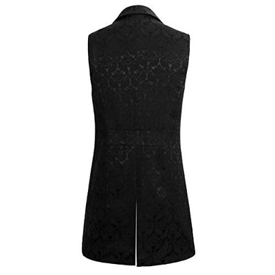 """Niccolo"" - Men's Double Breasted Gothic Tailcoat Vest"