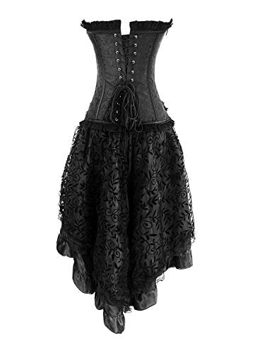 """Solanine"" - Corset and Skirt Set - OMGoth - My Gothic Shop"