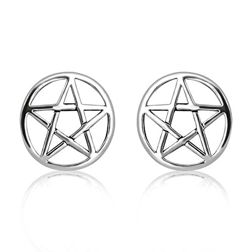 """Lorelei"" - Pentagram Stud Earrings - OMGoth - My Gothic Shop"